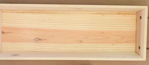 Sealed unfinished wood decorative tray