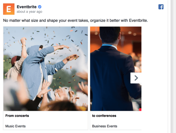 ways to use Facebook's carousel ads