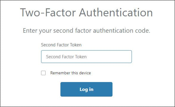 Cloudflare two-factor authentication dialog.