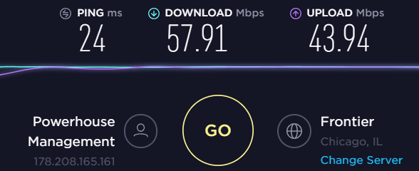 VyprVPN USA Midwest Speedtest