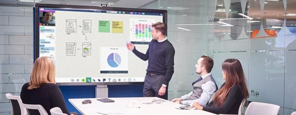 écran interactif réunion à distance
