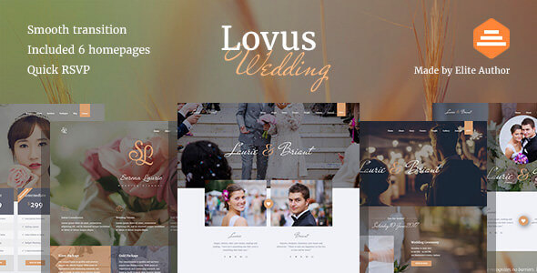 Lovus – Wedding Website Template