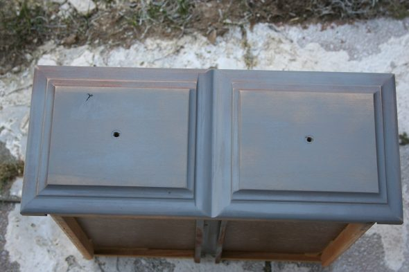 primed nightstand drawer