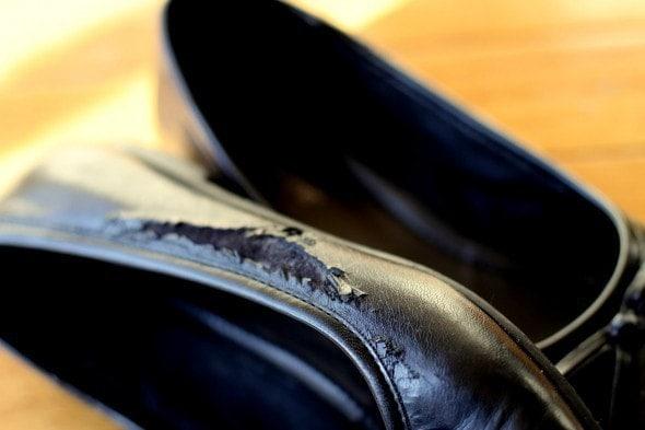 Shoe-Goo-ed my black flats