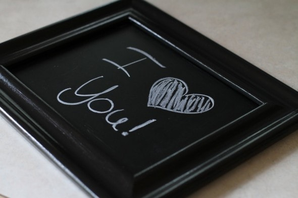 chalkboard made from old picture frame