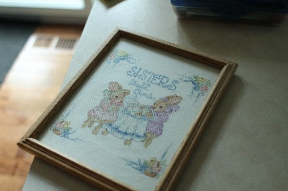 sisters cross stitch