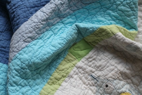 mended fish quilt