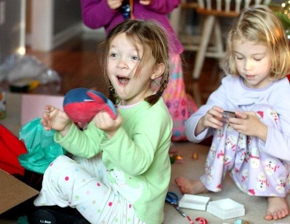 Christmas morning joy