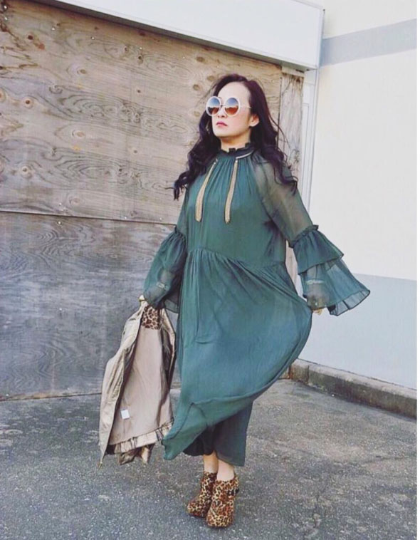 Chic belle sleeves dress | 40plusstyle.com