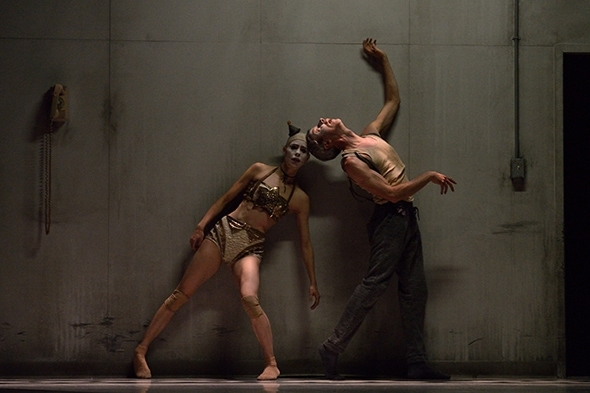 Tiffany Tregarthen and Jonathon Young in Betroffenheit (photo: Michael Slobodian)