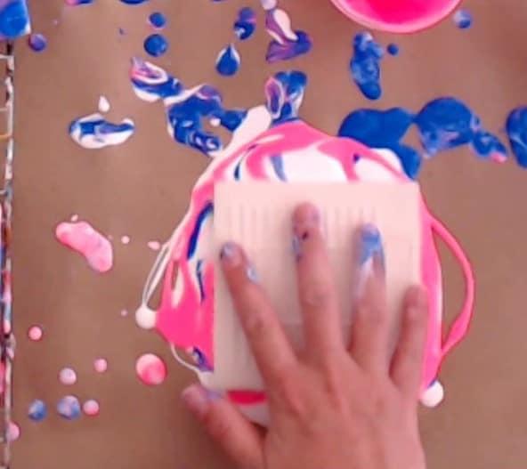 Easy Paintings for beginners dip canvas in paint
