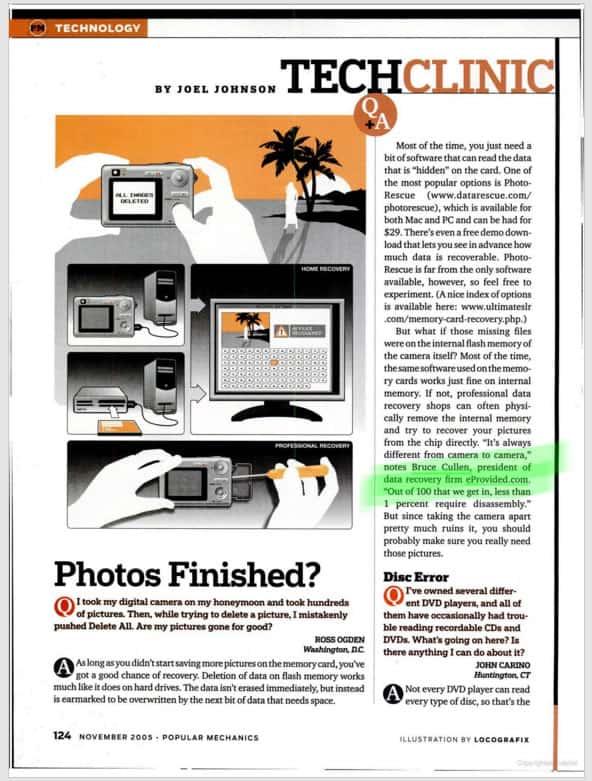 Bruce Cullen Popular Mechanics Magazine 2005