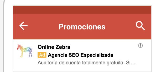 anuncio gmail display