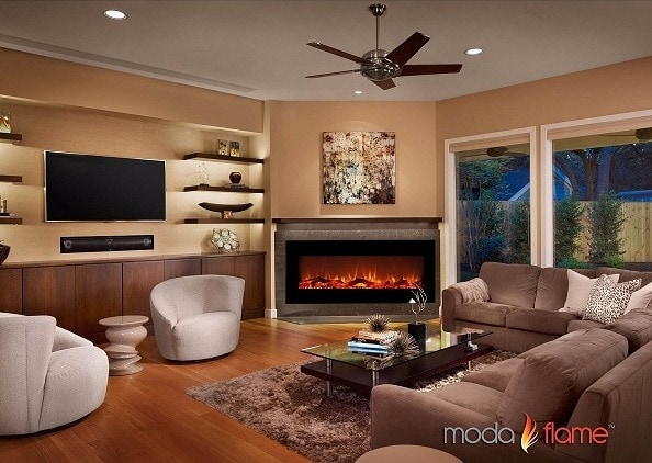 "Moda Flame Houston 50"" Electric Wall Mounted Fireplace Review"