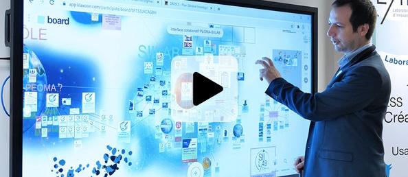 cas client écran interactif travail à distance