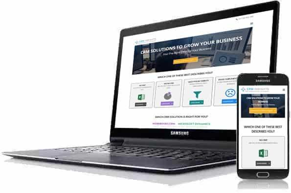 CRM Insights website build Blue Dolphin Business Development