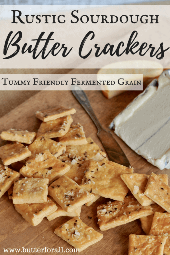 Making Rustic Sourdough Butter Crackers - Fermented Grains