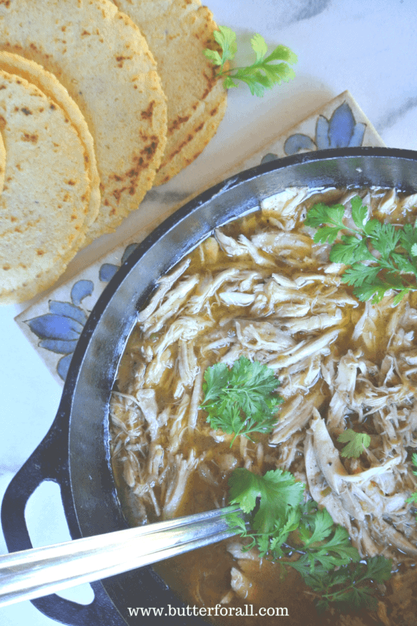 Delicious, hearty stewed chicken with rich flavorful broth.