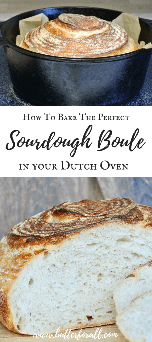 Learn how to bake a soft and chewy, traditionally fermented Artisan Sourdough Boule at home. This easy recipe and instructive video will take your bread to a whole new level! #sourdough #nourishingtraditions #wisetraditions #fermentation #wildyeast #masamadre #sourdoughstarter