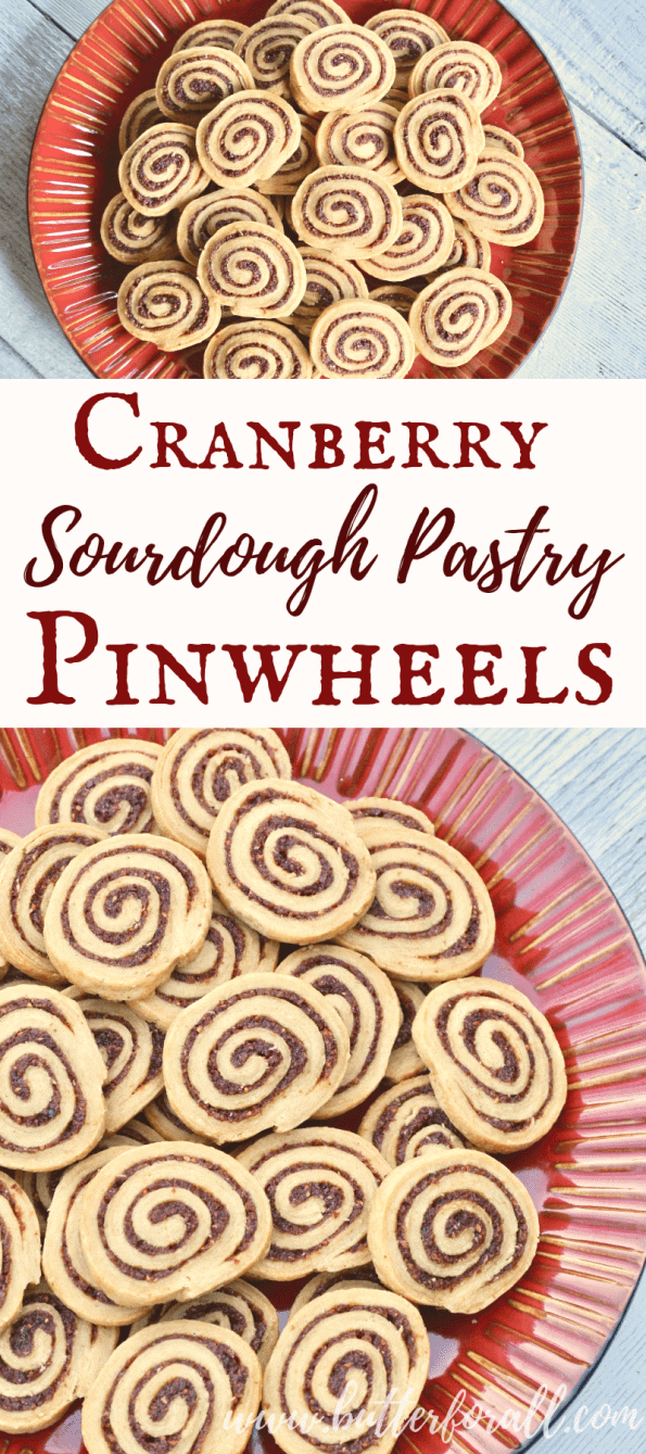 These tart and jammy Cranberry and Sourdough Pastry Pinwheels are a fun refined-sugar free treat for your holiday table!