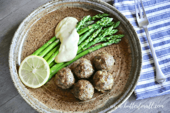 These keto friendly meatballs are the perfect quick and easy real food dinner.