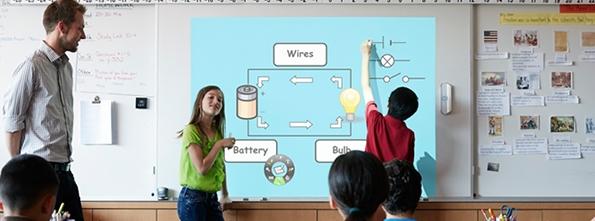 tableau blanc interactif tbi école salle de classe