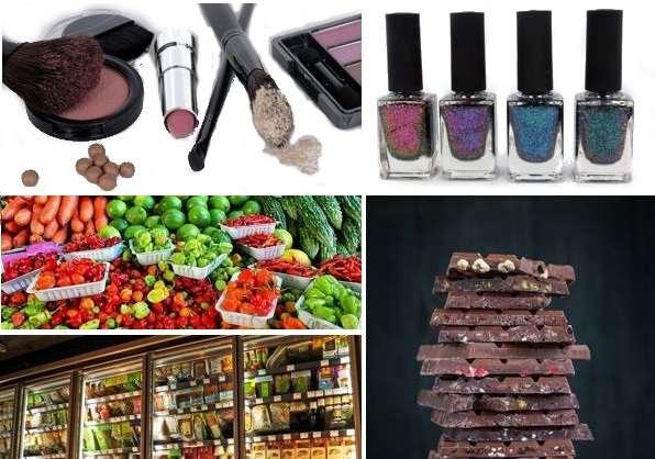косметика и продукты питания