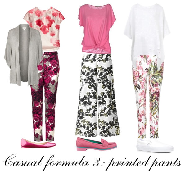 Casual outfit formula 2: printed pants | 40plusstyle.com