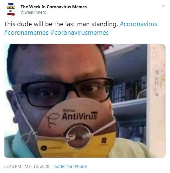 Coronavirus meme - antivirus