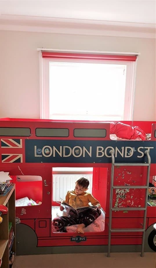 Customise your bunk bed to create a little safe haven for your child - bean bag chairs, desk and sitting corner