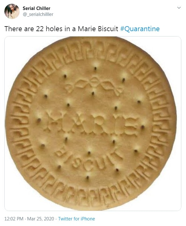 Counting holes in Marie biscuit