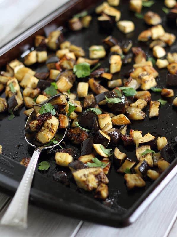 Sweet roasted eggplant