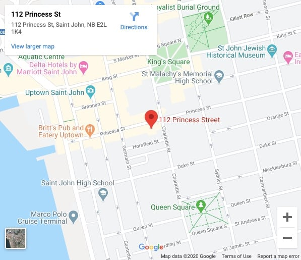 Google Map to The Saint John Theatre Company