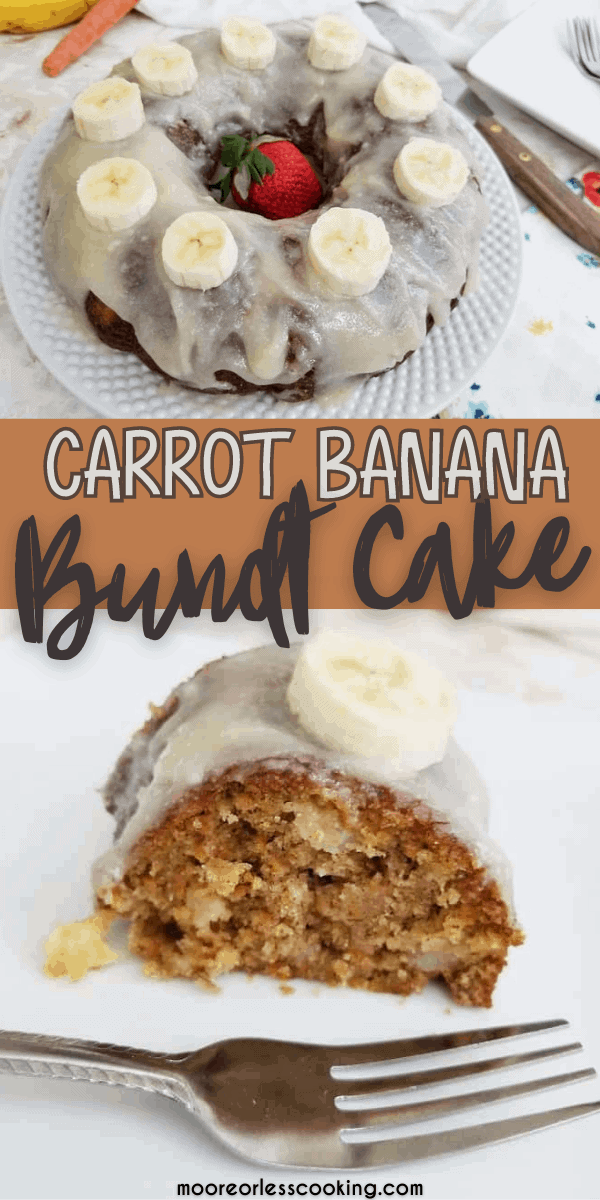 carrot banana bundt cake