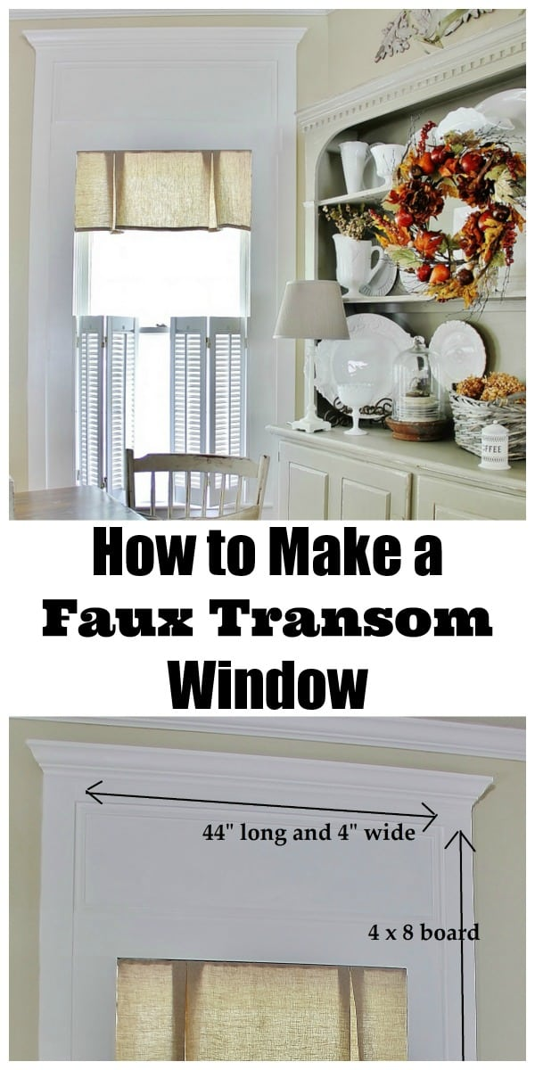 How to create a faux transom window in your home.