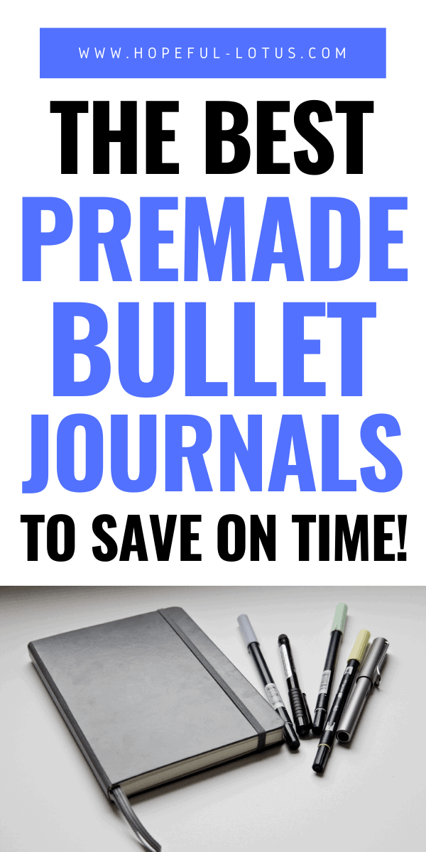 the best premade bullet journals to save on time
