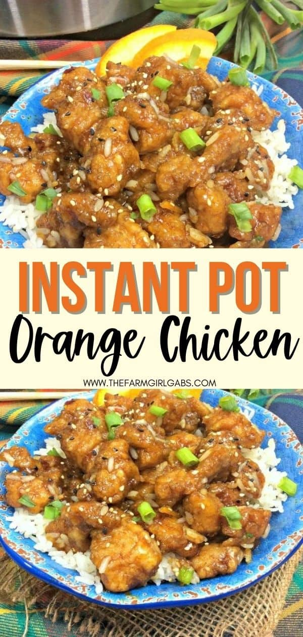 Ready in 20 minutes, this Instant Pot Orange Chicken recipe is a delicious option to ordering Chinese take-out. Raise your hand if you love easy Instant Pot chicken recipes! This quick instant pot dinner recipe is quick, easy and delicious. Try this easy Orange Chicken recipe for a weeknight dinner.