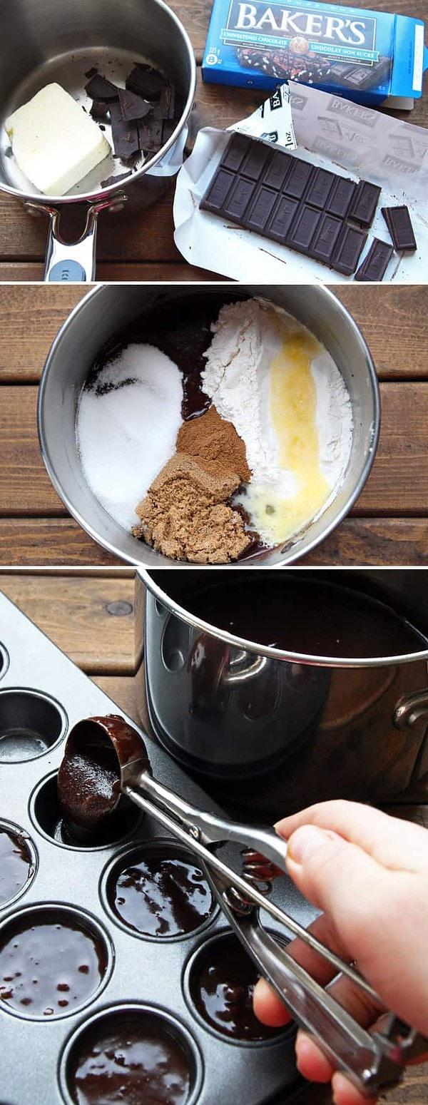 Making Gingerbread Brownie Batter