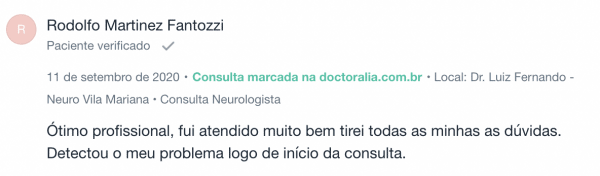 opinião sobre neurologista especialista