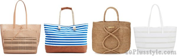 Different kinds of tote bags for the beach | 40plusstyle.com