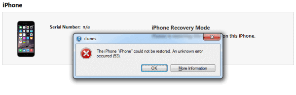 Replacing Touch ID Home Button On iPhone 6 By Unauthorized Technician Will End With Error 53