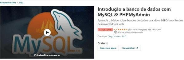 curso introducao ao bandos de dados com mysql