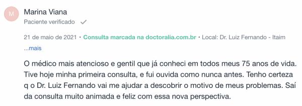 opinião sobre neurologista em São Paulo