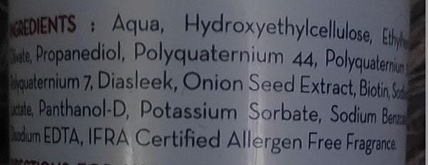 Mamaearth onion hair serum ingredients