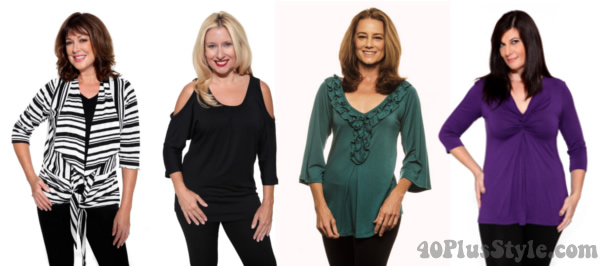 best tops for rectangle body type | 40plusstyle.com