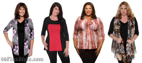 best tops for apple body type | 40plusstyle.com