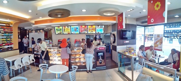 The newly renovated Mister Donut Cafe