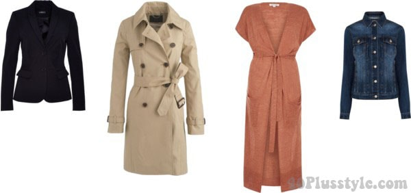 Spring capsule outerwear wardrobe for the rectangular body shap | 40plusstyle.com
