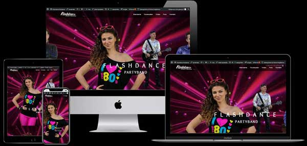 Homepage der Flashdance Partyband
