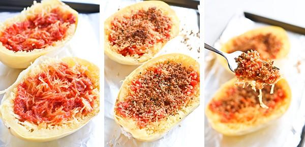 Spaghetti Squash cut in half